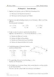 Aufgaben über Pythagoras - Anwendungen mit Erklärungen in Videos und Lösungen.