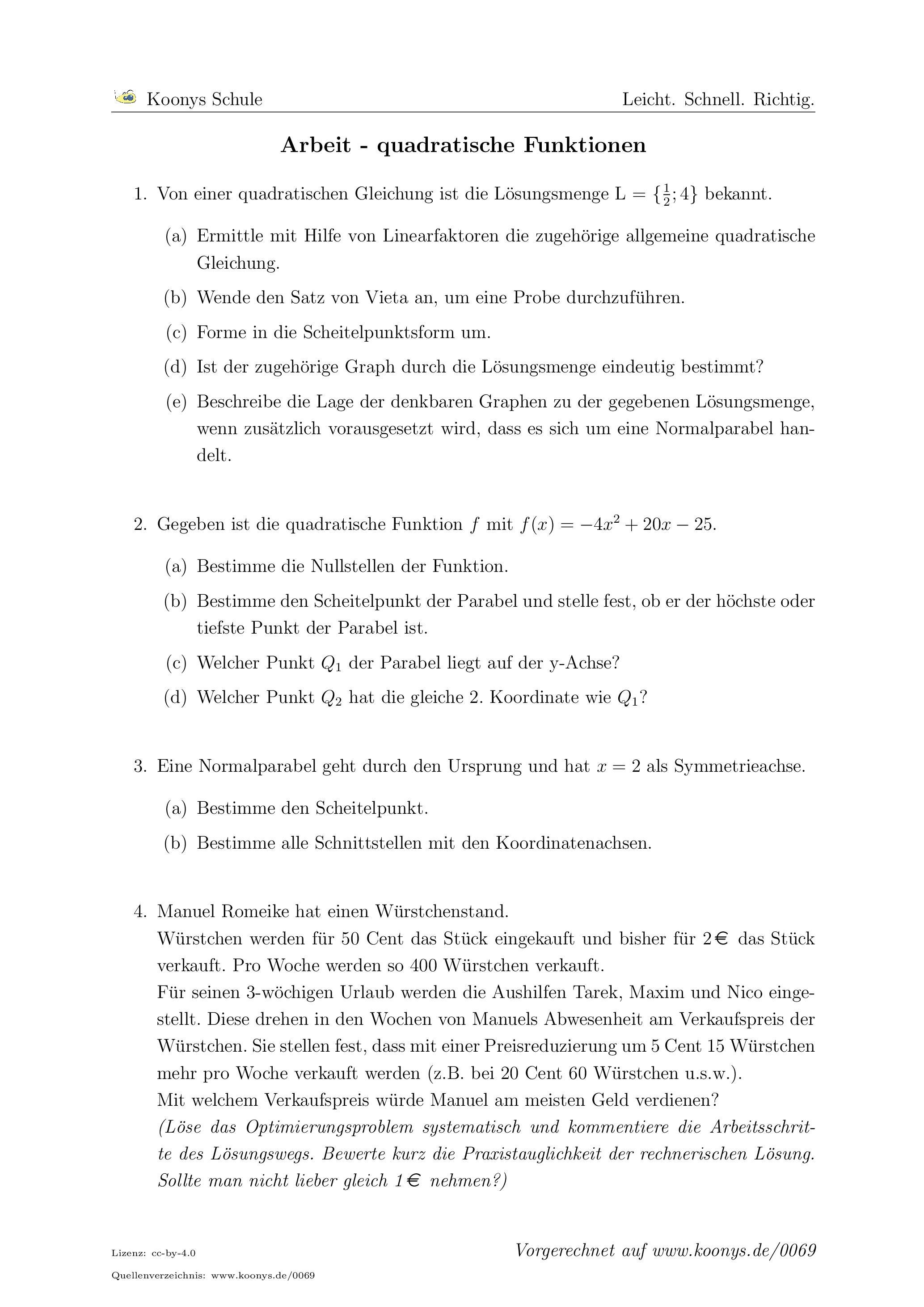 Ungewöhnlich Arbeitsblatt Auf Die Lösung Von Quadratischen ...