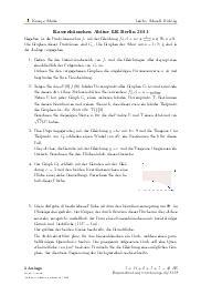 Aufgaben über Kassenhäuschen Abitur LK Berlin 2011 mit Erklärungen in Videos und Lösungen.
