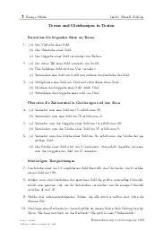 Aufgaben über Terme und Gleichungen in Texten mit Erklärungen in Videos und Lösungen.