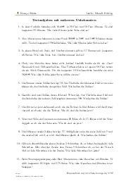 Aufgaben über Textaufgaben mit mehreren Unbekannten mit Erklärungen in Videos und Lösungen.
