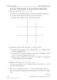 Aufgaben über Test über Vorkenntnisse zu ganzrationalen Funktionen mit Erklärungen in Videos und Lösungen.