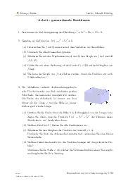 Aufgaben über Arbeit - ganzrationale Funktionen mit Erklärungen in Videos und Lösungen.