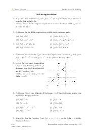 Aufgaben über Ableitungsfunktion mit Erklärungen in Videos und Lösungen.