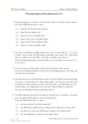 Aufgaben über Übungsaufgaben Kombinatorik 2v3 mit Erklärungen in Videos und Lösungen.