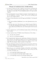 Aufgaben über Übungen zu kombinatorischen Abzählverfahren mit Erklärungen in Videos und Lösungen.