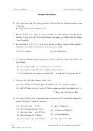 Aufgaben über Abzählverfahren mit Erklärungen in Videos und Lösungen.