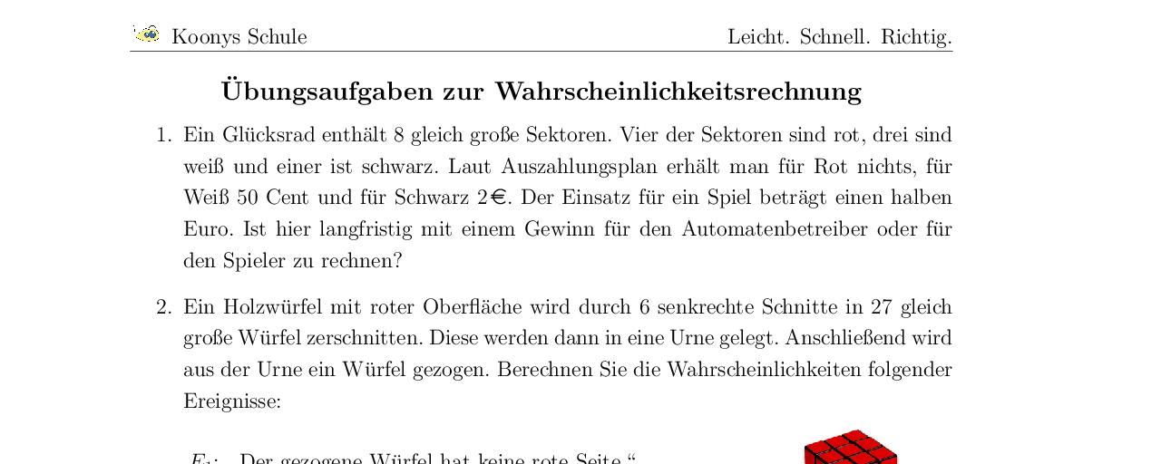 Old Fashioned 7Klasse Wahrscheinlichkeit Arbeitsblatt Inspiration ...