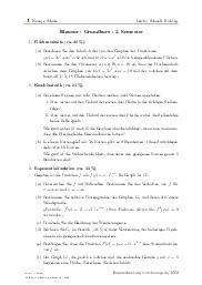 Aufgaben über Klausur - Grundkurs - 2. Semester mit Erklärungen in Videos und Lösungen.