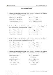 Aufgaben über Bernoulli-Ketten mit Erklärungen in Videos und Lösungen.