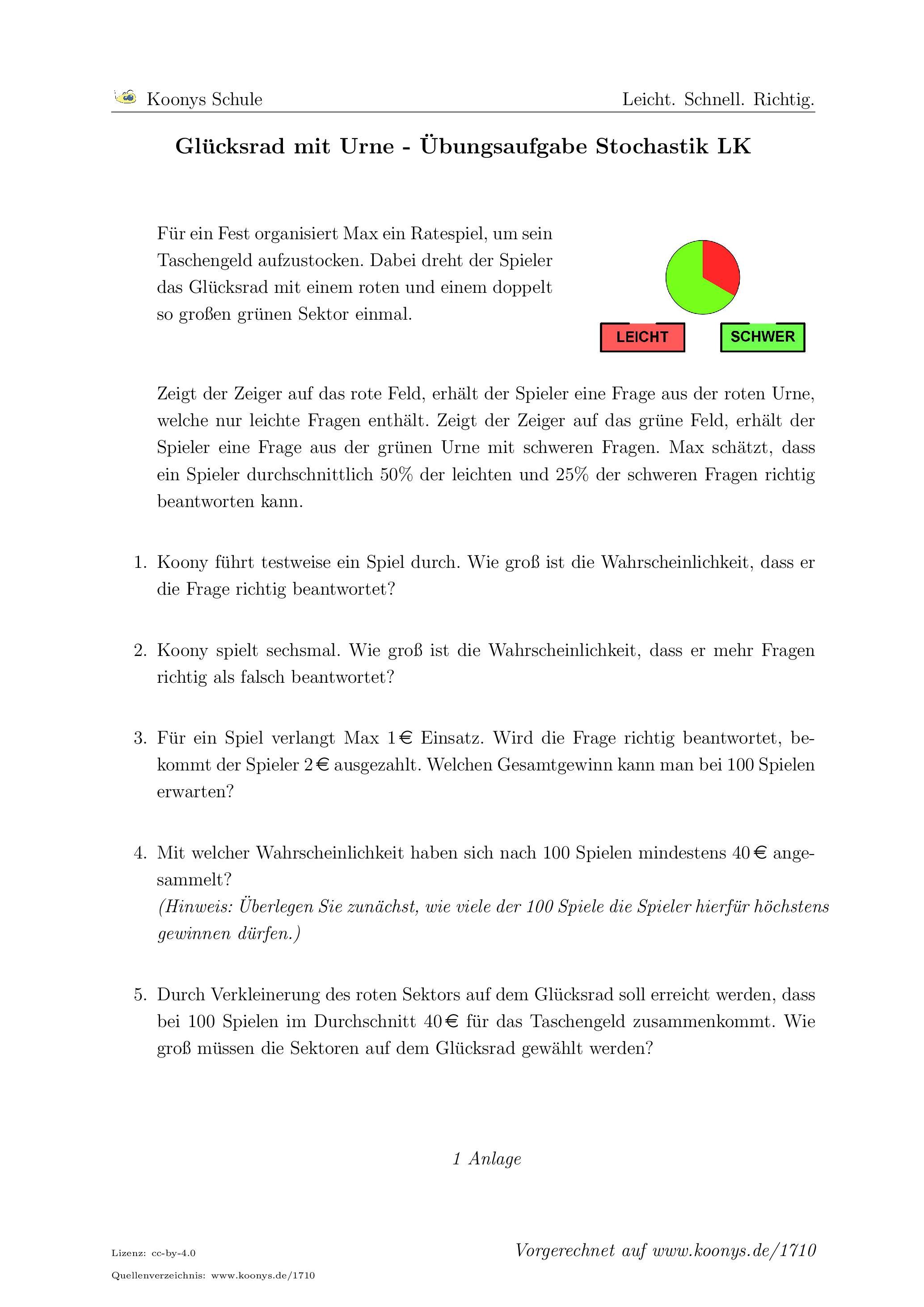 Awesome Geometrische Wahrscheinlichkeit Arbeitsblatt Ideas ...