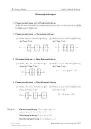Aufgaben über Ebenengleichungen mit Erklärungen in Videos und Lösungen.