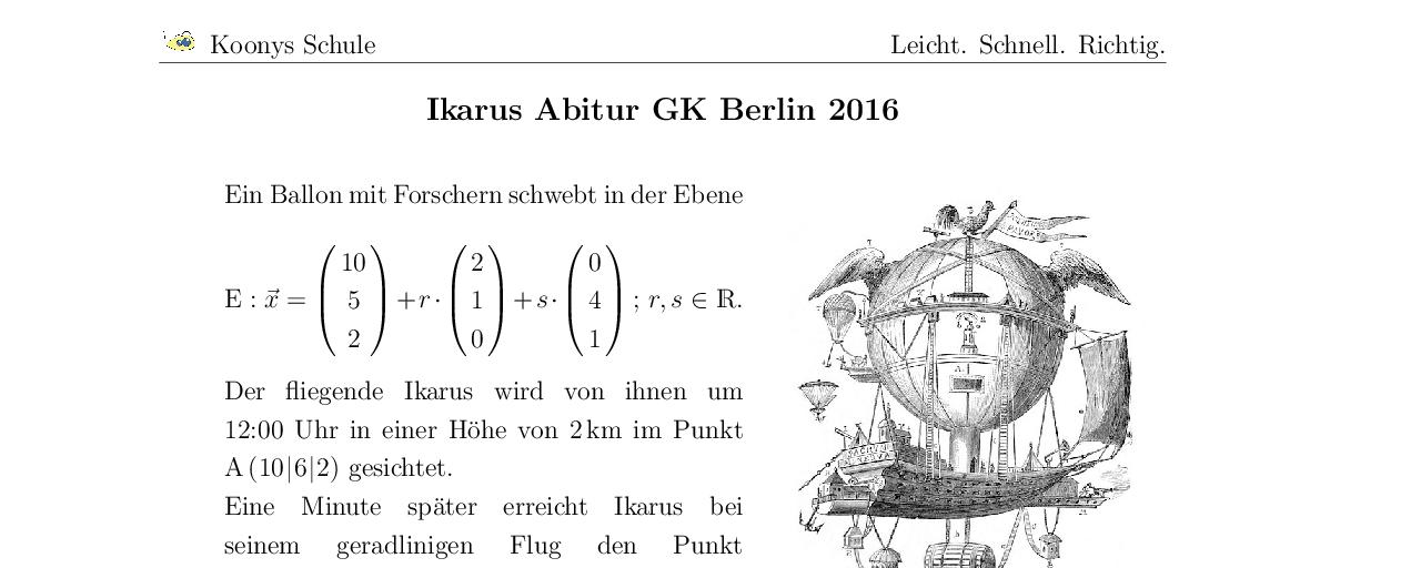 Vorschaubild des Übungsblattes Ikarus Abitur GK Berlin 2016