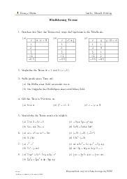 Aufgaben über Einführung Terme mit Erklärungen in Videos und Lösungen.