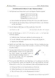 Aufgaben über Abschlussarbeit Klasse 9 mit Taschenrechner mit Erklärungen in Videos und Lösungen.