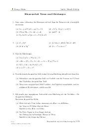 Aufgaben über Klassenarbeit Terme und Gleichungen mit Erklärungen in Videos und Lösungen.