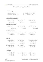 Aufgaben über Lineare Gleichungssysteme lösen mit Erklärungen in Videos und Lösungen.