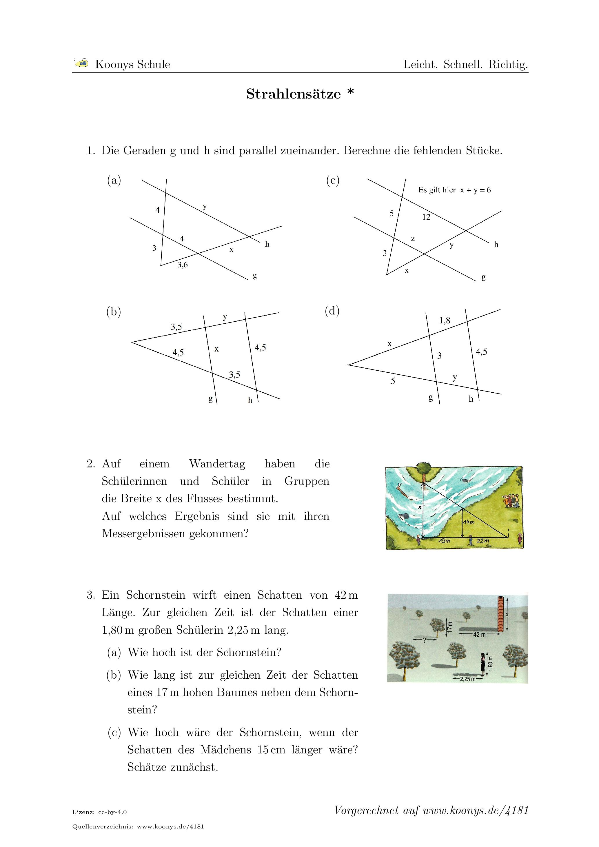 Klasse 9 | Arbeitsblätter mit Aufgaben, Lösungen und Videos