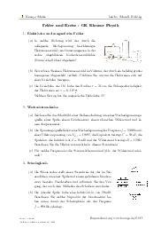 Aufgaben über Felder und Kreise - GK Klausur Physik mit Erklärungen in Videos und Lösungen.