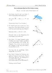 Aufgaben über Anwendungsaufgaben Dreiecksmessung mit Erklärungen in Videos und Lösungen.