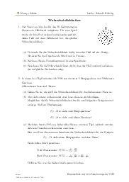 Aufgaben über Wahrscheinlichkeiten mit Erklärungen in Videos und Lösungen.