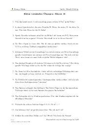 Aufgaben über Kleine vermischte Übungen - Klasse 10 mit Erklärungen in Videos und Lösungen.