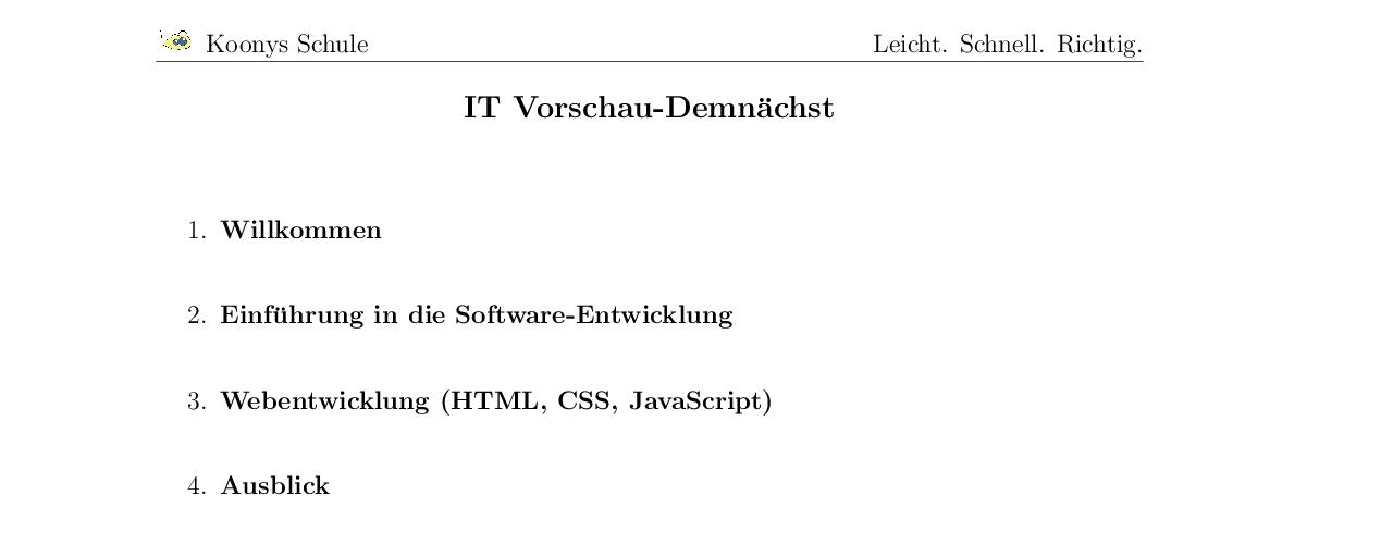 Vorschaubild des Übungsblattes IT Vorschau-Demnächst