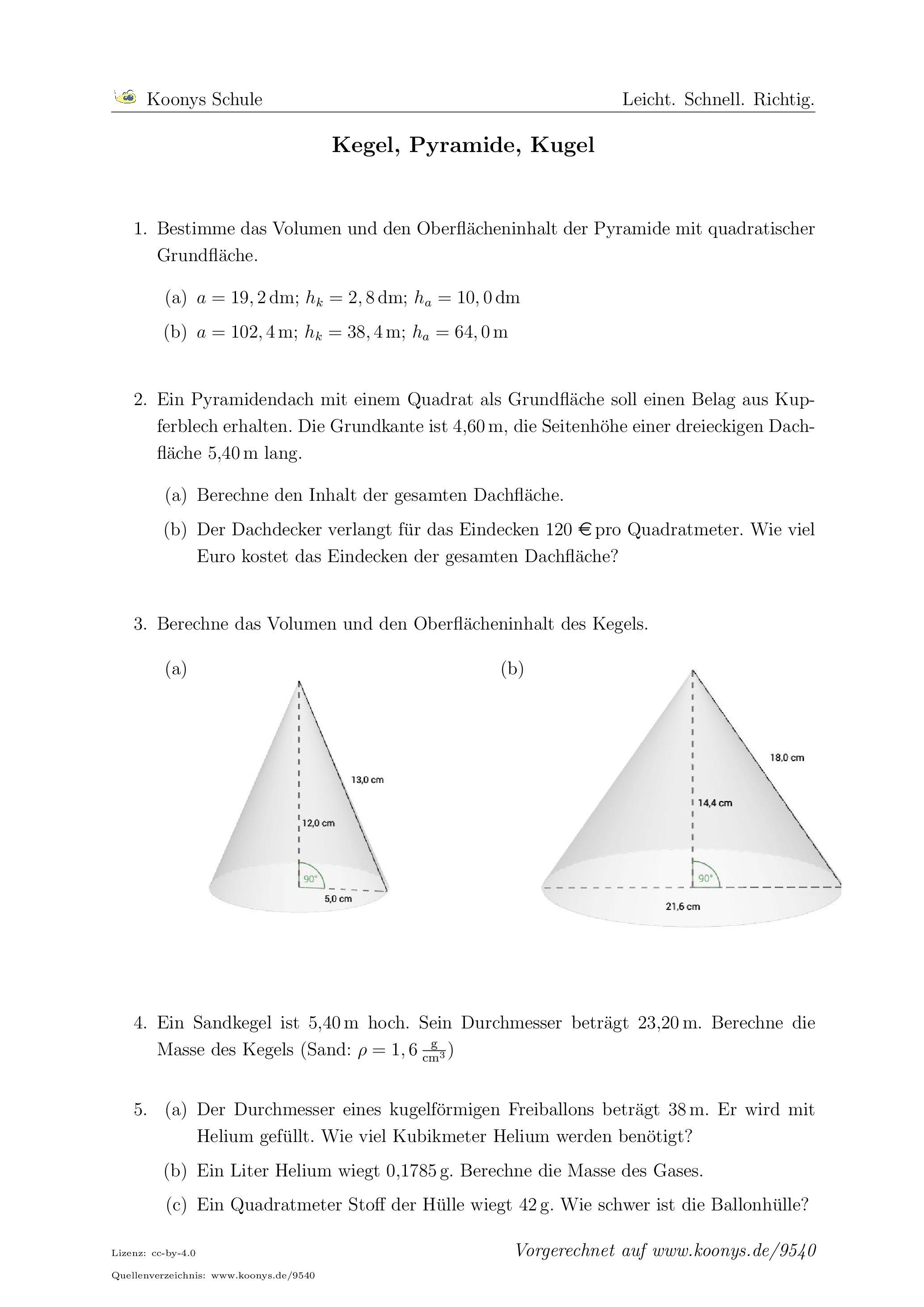 Großartig Oberfläche Einer Dreieckigen Pyramide Arbeitsblatt ...