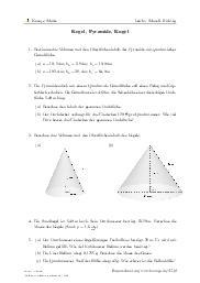 Aufgaben über Kegel, Pyramide, Kugel mit Erklärungen in Videos und Lösungen.